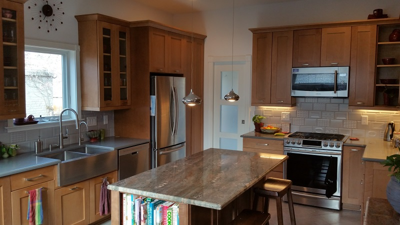 "Kitchen remodel ""after"" photo. Prospect 30 Eight Construction"